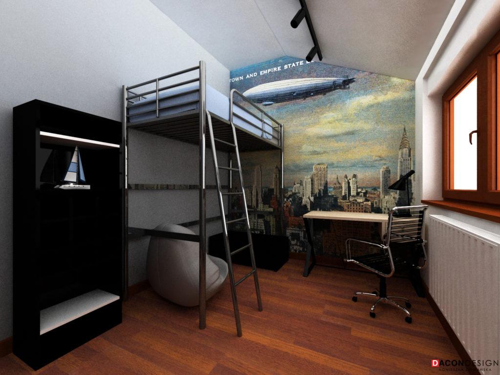 Łóżko piętrowe w pokoju nastolatka