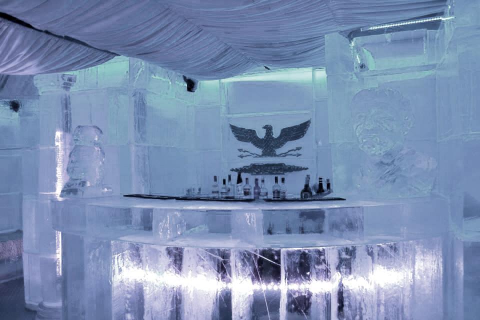 Sala główna baru lodowego w Rzymie