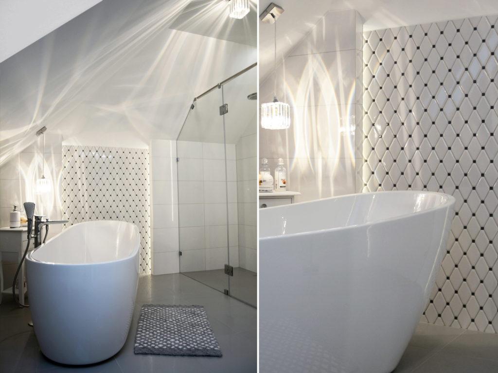 Wanna wolnostojąca w nowczesnej łazience