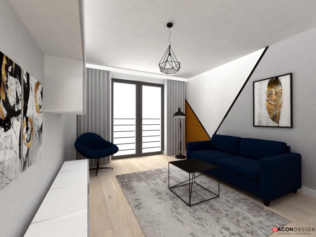 Nowoczesny pokój inspirowany kolekcją projektanta mody