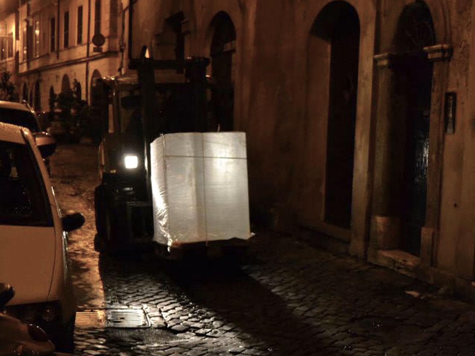 Aranżacja baru z lodu w Rzymie